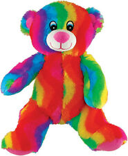 *NEW* RAINBOW TEDDY BEAR SOFT PLUSH EASTER GIFT - 16""
