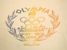Vintage Olympia Greece Olympics World Championships Sports Ringer T Shirt L