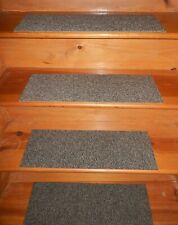 "12 STEP Indoor  Stair Treads Staircase 8"" x 24"" Nylon Carpet."
