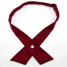 Cross Bowtie Mens Necktie Cravat Bow Pre Tie Womens Unisex Adjustable Dark Blue
