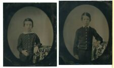 Early Tintypes- Two Brothers- Light Tinting- 1858- Medical?