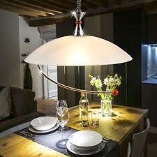 Hänge Lampe höhenverstellbar Ess Zimmer Tisch Holz Pendel Leuchte Glas satiniert