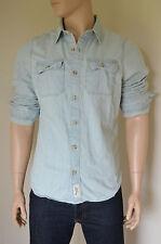 NEW Abercrombie & Fitch Bradley Pond Vintage Denim Light Wash Shirt XL RRP £78