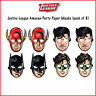 Justice League Boys Birthday Party Supplies Face Masks 8 Pack Superheroes Favour