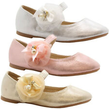 GIRLS KIDS PARTY SPARKLE PEARL DOLLY BALLET PUMPS BALLERINA SHOES MARY JANE SIZE