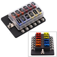 12Way Blade Fuse Box Distribution Bar Bus Boat Car Kits Marine Holder 12V/32V
