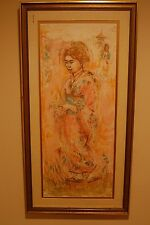 EDNA HIBEL JAPANESE GEISHA GI, SIGNED LTD EDITION 54/102 ED282 LITHOGRAPH PRINT