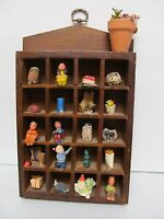 "FOLK ART WOOD MINIATURES Vintage Hand Crafted Painted WALL ART 10"" X 5 3/4"""