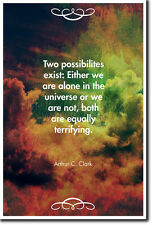 Arthur C. Clarke preventivo POSTER-Foto Stampa ARTE REGALO-due possibilità esistenti