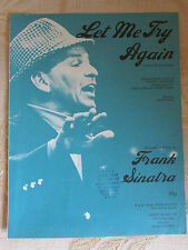 Vintage Original Sheet Music Of Let Me Try Again, By Frank Sinatra - 1973