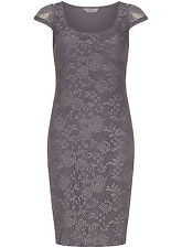 Dorothy Perkins Petite Floral  Lace Tube Dress 8  Grey