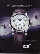 PUBLICITE PAPIER ADVERTISING 014 2013 MONT BLANC  montre