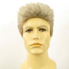 Perruque homme 100% cheveux naturel blanc méché gris ref ALBERT 51