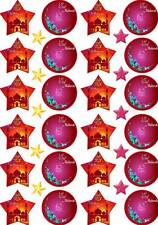 34 Eid Mubarak Cup Cake Edible Wafer Rice Toppers Stand up Decorations