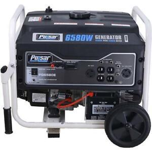 Pulsar 6,580 Watts Gas-Powered Portable Generator Electric Start PG6580E
