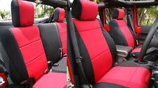 Jeep Wrangler 2011-2017 Neoprene Full Set Car Seat Cover 4 door Red jpyes4d