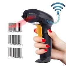 Cordless 100K Barcode Scanner Reader Usb Receiver Super Market Store Ware House