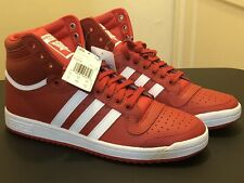 Adidas Originals Top Ten Hi Red Scarlet White Sneakers Men's Size 10—Brand NEW