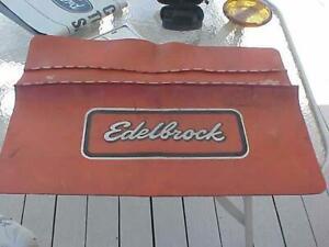 Vintage Early Orange  Edelbroick Fender Cover
