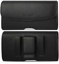 Flip Phone Universal Small Leather Holster/ Case/ Pouch with Belt Loop & Clip