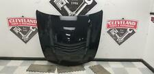2016-2019 Cadillac CTS-V OEM Black Carbon Fiber Hood w/ Painted Vent DAMAGED LIP