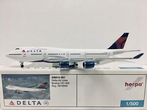 Herpa Wings Delta Air Lines Boeing 747-400 1:500 N676NW 506915-001