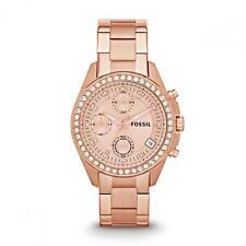 Fossil Armbanduhren aus Edelstahl mit Glanz-Finish für Damen