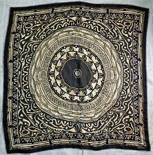 Vintage Scarf / Bandanna Ellen Tracy Geometric Tribal Design