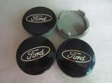 4x FORD 54mm Black Wheel Center Cap Hub Cap Emblem Fiesta Focus Fusion Mondeo