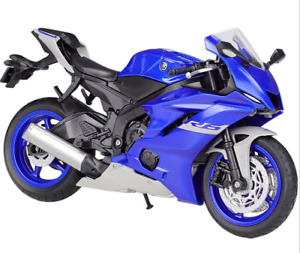 Welly New In Box 1:12 2020 YAMAHA YZF R6 Blue Diecast Motorcycle Bike Model Toy