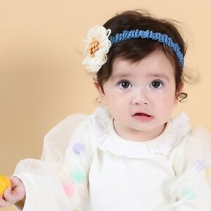 3 Colors Baby Toddler Girl Kids Cute Wool Flower Headband Kids Hair Accessories