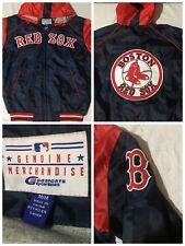 Boston Red Sox MLB Carl Banks G3 Full Zip Hooded Satin Starter Style Jacket M