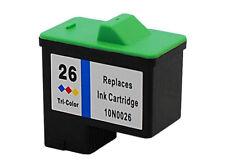 Compatible Ink Lexmark 10N0026 26 Coloured X74 X75 X1100 X1200 X2200 Z13 23 25