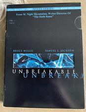Unbreakable Dvd Bruce Willis Samuel L. Jackson M. Night Shyamalan Movie