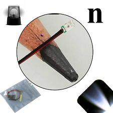 10 x 12v 0606 0603 Cool Clear White Nano Flashing SMD Pre-Wired LED Blinking 9v