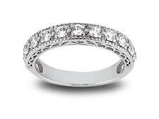 11Stone 0.77ct Diamond Wedding Band Ring 10karat White Gold I SI2 Prong Setting
