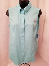 Columbia NWT Womens Tamiami Sleeveless UPF 40 Omni-Wick Snap Front Shirt Size S