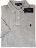 NEW $85 Polo Ralph Lauren Short Sleeve Classic Fit Shirt Mens Hthr Gray Mesh NWT
