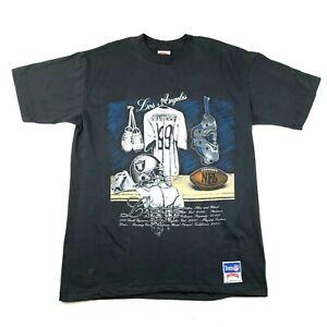 NEW Vintage Los Angeles LA Raiders T Shirt Mens XL Black Nutmeg Made In USA