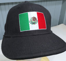 FINL365 Finish Line Mexico Flag Size 7 Fitted Black Baseball Cap Hat