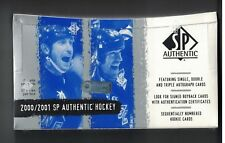 2000-01 SP AUTHENTIC HOCKEY FACTORY SEALED HOBBY BOX 24 PACKS MARTIN HAVLAT RC