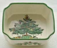 Spode Christmas Tree Sugar Packet Tea Bag Holder Hand Painted England