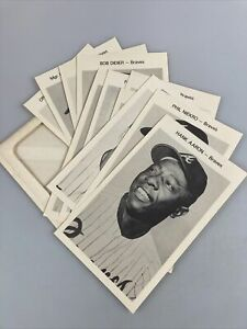 1970, Atlanta Braves - 12/12 Vintage Poster Card Set, Hank Aaron