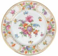 Schumann Empress Dresden Flowers Luncheon Plate Porcelain 8 1/2 (D)
