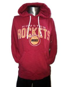 NBA Houston Rockets Hardwood Classic 47 Brand Rescue Red PULLOVER Hoodie Small