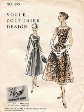 1950's VTG VOGUE Couturier Design Misses'  Dress Pattern 899 14