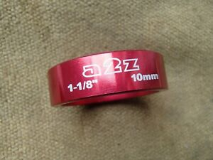 """A2Z 1&1/8"""" METALLIC RED 10mm HEADSET SPACER HANDY RARE SPARE"""