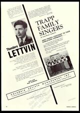 1955 Trapp Family Singers photo Theodore Lettvin Usa tour booking ad