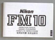 Nikon FM10 Instruction Manual multi-language Original