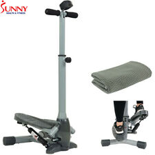 Sunny Health and Fitness Twist-In Stepper w/ Handlebar + Cooling Towel